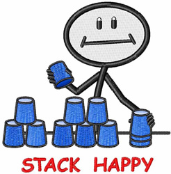 Stack Happy embroidery design
