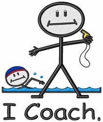 I Coach embroidery design