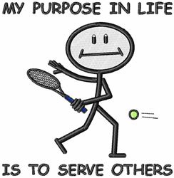 To Serve Others embroidery design