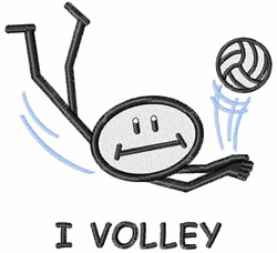 I Volley embroidery design
