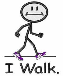 I Walk embroidery design