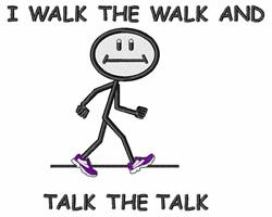 I Walk The Walk embroidery design