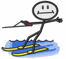 Water Ski embroidery design
