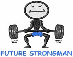 Future Strongman embroidery design