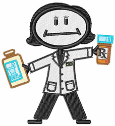 Pharmacist embroidery design