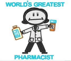Worlds Greatest Pharmacist embroidery design