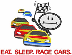 Race Cars embroidery design
