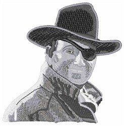 John Wayne embroidery design
