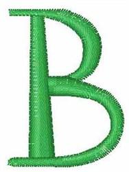 Upper Case  B embroidery design