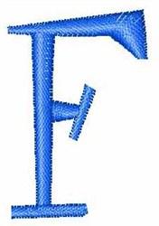 Upper Case  F embroidery design