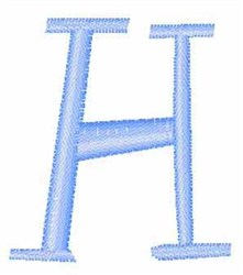 Upper Case  H embroidery design