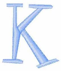 Upper Case  K embroidery design
