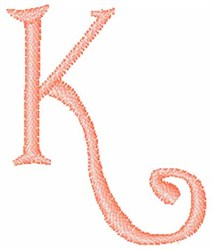 Fruity Font K embroidery design