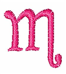Fruity Font m embroidery design