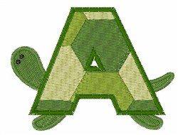 Turtle Font A embroidery design
