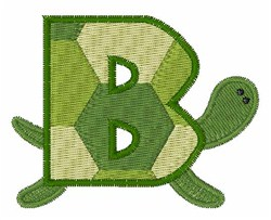 Turtle Font B embroidery design