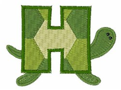 Turtle Font H embroidery design