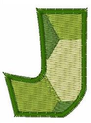 Turtle Font J embroidery design
