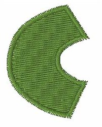 Turtle Font C embroidery design