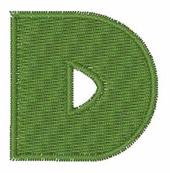 Turtle Font D embroidery design