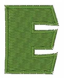 Turtle Font E embroidery design