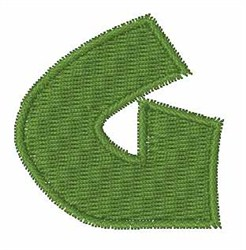 Turtle Font G embroidery design