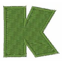 Turtle Font K embroidery design