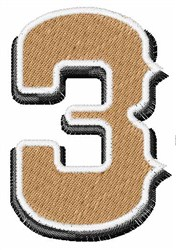 Saloon Number 3 embroidery design