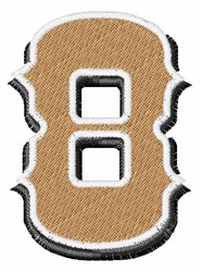 Saloon Number 8 embroidery design