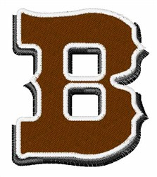 Saloon Font B embroidery design