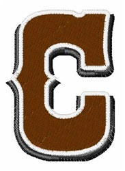 Saloon Font C embroidery design