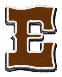 Saloon Font E embroidery design