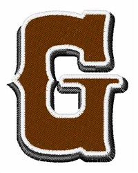 Saloon Font G embroidery design