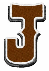 Saloon Font J embroidery design