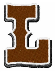 Saloon Font L embroidery design