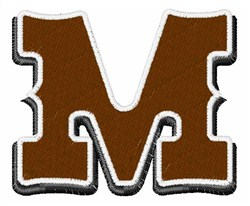 Saloon Font M embroidery design