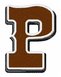 Saloon Font P embroidery design