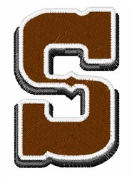 Saloon Font S embroidery design