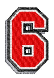 Athletic Shadow 6 embroidery design