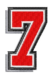 Athletic Shadow 7 embroidery design