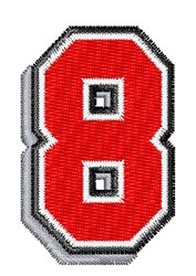 Athletic Shadow 8 embroidery design