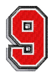 Athletic Shadow 9 embroidery design
