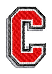 Athletic Shadow C embroidery design