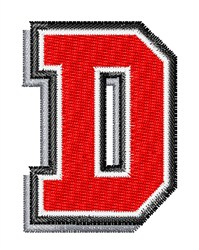 Athletic Shadow D embroidery design