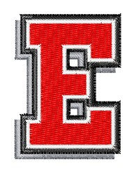 Athletic Shadow E embroidery design