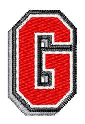 Athletic Shadow G embroidery design