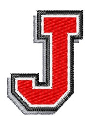 Athletic Shadow J embroidery design