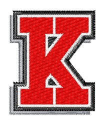 Athletic Shadow K embroidery design