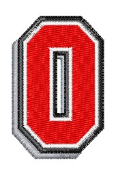 Athletic Shadow O embroidery design