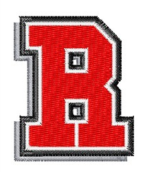 Athletic Shadow R embroidery design